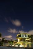 Długiego ujawnienia plażowy dom Obrazy Stock