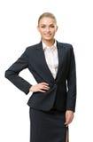 Długość portret bizneswoman z ręką na biodrze Obrazy Stock