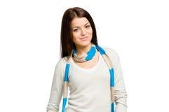 Długość portret kobieta z szalikiem zdjęcia stock