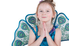 Długość portret mała dziewczynka w galanteryjnej sukni Obraz Stock