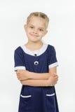 Długość portret sześć rok dufnych dziewczyn zdjęcia stock