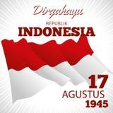 Długo żyje republiki Indonezja 17th Sierpień ilustracji