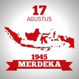 Długo żyje republiki Indonezja 17th Sierpień Indonezyjski republiki ` s dzień niepodległości ilustracji