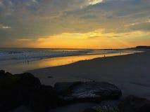długo na plażę obraz stock