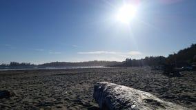 długo na plażę zdjęcie stock