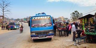 Długodystansowa podróż w Nepal Fotografia Royalty Free