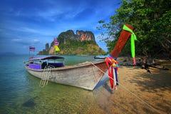Długoogonkowa łódź w Tajlandia obrazy royalty free