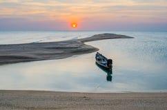 Długoogonkowa łodzi obsady kotwica Fotografia Stock