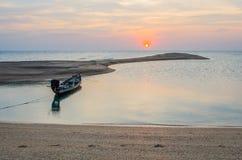 Długoogonkowa łodzi obsady kotwica Zdjęcie Stock