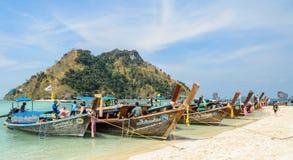 długoogonkowy łódkowaty taxi w Tajlandia Fotografia Royalty Free