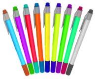 długopisy kolorów, obraz stock