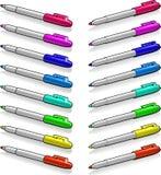 długopisy przechylający się ilustracji