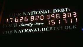 Długu Publicznego zegar zbiory