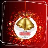 Dźwięczenie Dzwon dla bożych narodzeń i nowego roku Fotografia Royalty Free