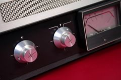 Dźwięk kontrola - retro zdjęcie stock