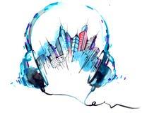 Dźwięki miasto ilustracji