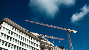 dźwigów budowlanych miejsce zdjęcie wideo