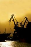 dźwigów przemysłowych Zdjęcia Stock