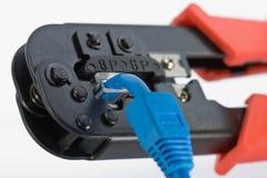dźwigarki narzędzie rj45 zdjęcie royalty free