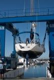dźwigi banus łódź puerto Zdjęcia Stock