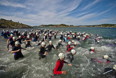 dźwignący triathlon Obraz Royalty Free