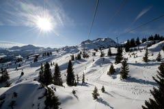 dźwignięcia gór narta Zdjęcie Royalty Free
