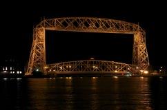 Dźwignięcie mosta kanału park Fotografia Stock