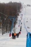 Dźwignięcie na Shihan ośrodku narciarskim Fotografia Stock