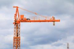 Dźwigowy przemysł selekcyjnej ostrości budowy budynków miejsca miasto Fotografia Royalty Free
