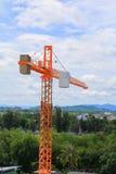 Dźwigowy przemysł selekcyjnej ostrości budowy budynków miejsca miasto Obraz Royalty Free