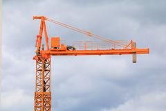 Dźwigowy przemysł selekcyjnej ostrości budowy budynków miejsca miasto Obrazy Royalty Free