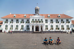Dżakarta, Indonezja - około Październik 2015: Dżakarta historii muzeum Stadhuis w Starym Grodzkim Dżakarta, poprzedni Zdjęcia Royalty Free