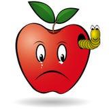 Dżdżownicy jabłko Zdjęcie Royalty Free