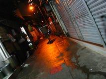 Dżdżysta aleja w Hong Kong Zdjęcie Stock