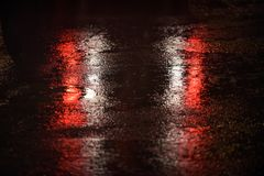 Dżdżysta noc 882 zdjęcie royalty free