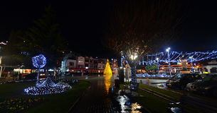 Dżdżysta noc w Ohrid, Macedonia Obraz Stock