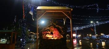 Dżdżysta noc w Ohrid, Macedonia Obrazy Stock