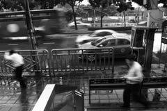 Dżdżysta scena w Bangkok Zdjęcie Stock