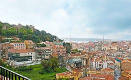 Dżdżyste chmury nad Lisbon zdjęcia stock