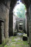 Dżdżyste ruiny blisko Angkor Wat, Kambodża Obrazy Royalty Free