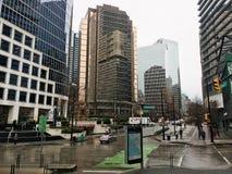 Dżdżyste ulicy W centrum Vancouver, kolumbia brytyjska fotografia royalty free