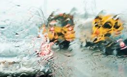 dżdżysty dzień ruch drogowy Fotografia Stock