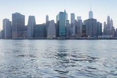 Dżdżysty Manhattan, dzielnica biznesu Miasto Nowy Jork zdjęcia royalty free