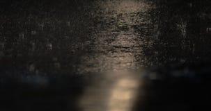 Dżdżysty nocy i jechać transport zdjęcie wideo