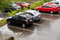 dżdżysty samochodu dzień Obraz Royalty Free