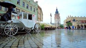 Dżdżysty Targowy kwadrat, Krakow, Polska zbiory