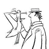 Dżentelmenu i Seagull humor ilustracja wektor