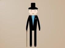Dżentelmenu mężczyzna z trzciną Zdjęcie Royalty Free