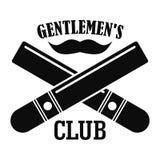 Dżentelmeny tłuc loga, prosty styl ilustracja wektor