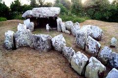 Dżersejowa wyspa - Neolityczny przejście grób fotografia stock